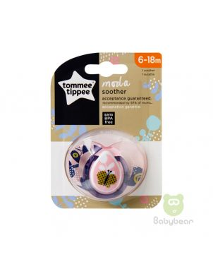 Tommee Tippee Moda Soother 6-18m Pink Pacifier