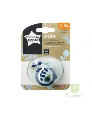 Tommee Tippee Moda Soother 6-18m Blue Pacifier