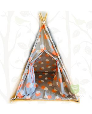 Teepee Tent  with Mat- Nordic Grey