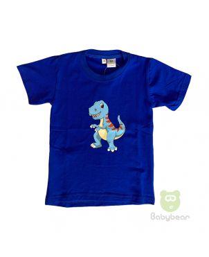 Dino Tshirt - Peacock Blue