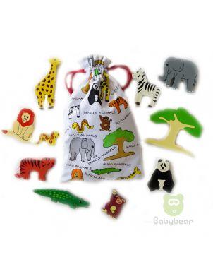 Wooden Jungle Animals